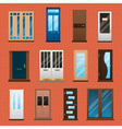 House Doors Set vector image