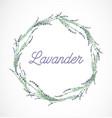 lavender wreath frame design element vector image
