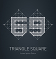 Modern stylish low poly logo with number 69 vector image