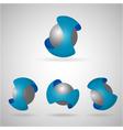 sphere blue vector image