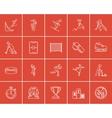 Winter sport sketch icon set vector image