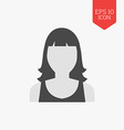 Woman avatar icon Flat design gray color symbol vector image