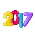 New in 2017 vector image
