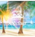 Summer typography holidays template vector image vector image