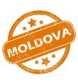 Moldova grunge icon vector image