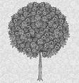 Abstract Tree Drawing vector image