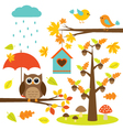 Birdstrees and owl vector image