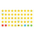 emoji star set vector image