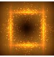 Glittering stars on bokeh background vector image