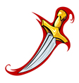 Medieval dagger vector image