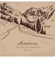 Mountain Road vector image