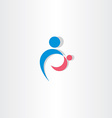 parent and child icon logo sign element vector image