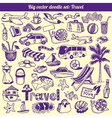Travel Doodles Collection vector image