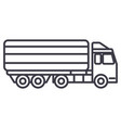 truck delivery line icon sign vector image