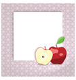 universal page layout with apple icon recipe or vector image