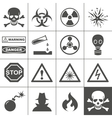 Danger and warning icons Simplus series vector image vector image