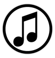 Music button on white vector image