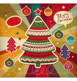 Funky Christmas Card vector image vector image