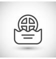 Water drain line icon vector image vector image