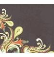 Stylised flowers on grunge background vector image vector image
