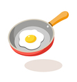 icon frying pan vector image