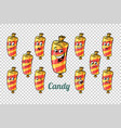 confectionery sweet candy in the wrapper emotions vector image