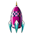 A rocket with a pointed tip vector image