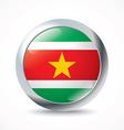 Suriname flag button vector image vector image