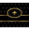 royal background with golden frame - vector image