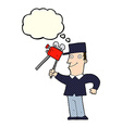 cartoon film maker with thought bubble vector image