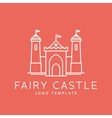 Abstract Fairy Tale Castle Line Style Logo vector image