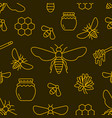 beekeeping bee seamless pattern yellow and black vector image