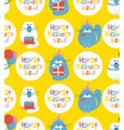 birthday cats seamless pattern vector image