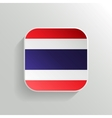 Button - Thailand Flag Icon vector image