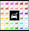 car sign with tag felt-pen 33 colorful vector image
