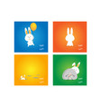 easter rabbit bunny on colorful background vector image