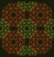 seamless pattern of simple mandalas vector image