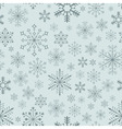 Seamless snowflake background vector image