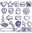 Set of nternet web icons vector image