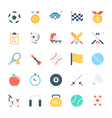 Sports Colored Icons 3 vector image