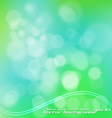 green bokeh vector image vector image