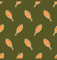cute leaves seamless pattern vector image vector image