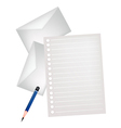 Two Pencil Lying on A Blank Page vector image vector image