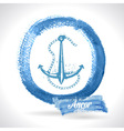 Anchor on watercolor background vector image