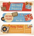 Music retro banners vector image