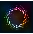 Abstract circle shining lights frame vector image vector image