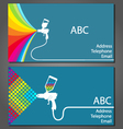 Business card for house painter vector image vector image