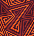 warm color tribal seamless pattern with grunge vector image