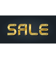 Luxury sale of gold jewelry letters vector image