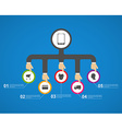 Flat business infographic concept design vector image